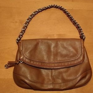 B. MAKOWSKY Brown Leather Shoulder Bag Purse
